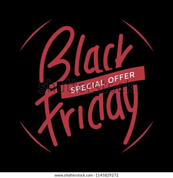 Black Friday Instagram Post Template Script Stock Vector Royalty Free 1145829272