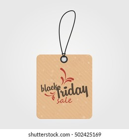Black friday label with text, Vector illustration