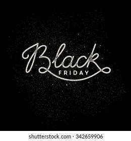 Black Friday lettering illustration