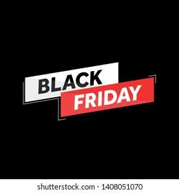 Black Friday, poster advert, banner. Card offer promotion design. - Vector