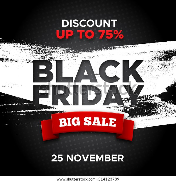 Black Friday Promo Vector Background Red Stock Vector Royalty Free 514123789