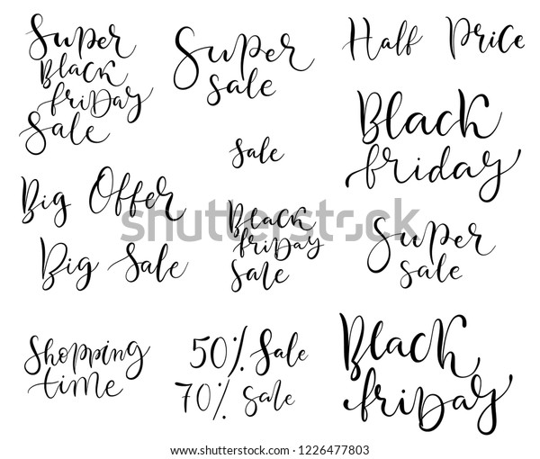 Black Friday Quotes Vector Calligraphy Stock Vector (Royalty ...
