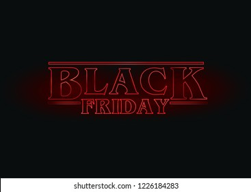BLACK FRIDAY RED SIGN CONCEPTUAL DESIGN, SALES POSTER