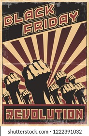 Black Friday Revolution. Original Sale Poster Obey Style