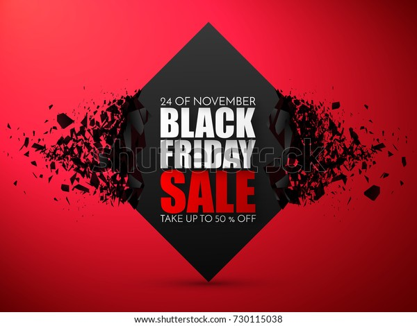 Black Friday Sale Abstract Background. Vector Banner with explosion effect.