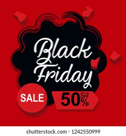 Black Friday Sale Abstract Background.Black Friday. Web banner, logo, emblem and label. Vector Banner with explosion effect.