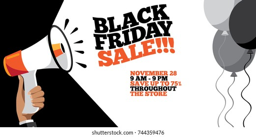 Black Friday Sale background with copy space. EPS 10 vector.