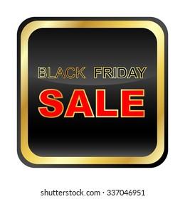 Black friday sale background. Black white lights background. Vector illustration