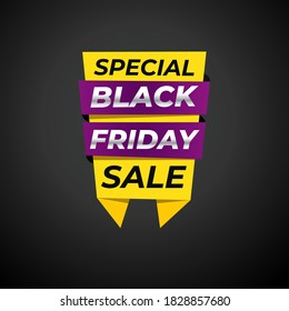 Black Friday sale banner. background template. discount offer. special sale banner
