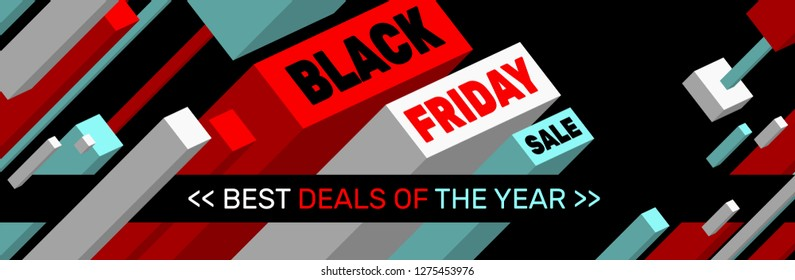 BLACK FRIDAY SALE Banner design << Best deals of the year >>