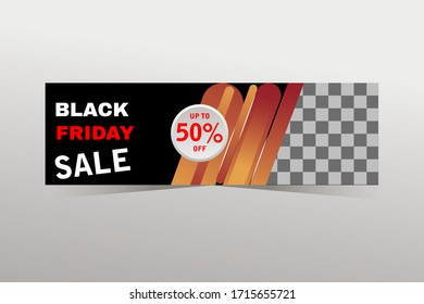 Black friday sale banner, sale banner design
