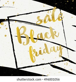 Black Friday sale banner design template. Vector illustration