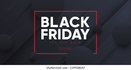 """Black friday"" sale banner. Eps10 vector."