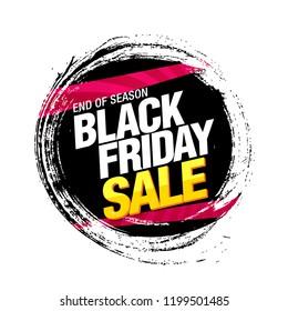 black friday sale banner layout design, vector illustration