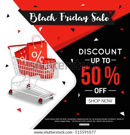 7399fcb9e3 Black Friday Sale Banner Online Shop Stock Vector (Royalty Free ...