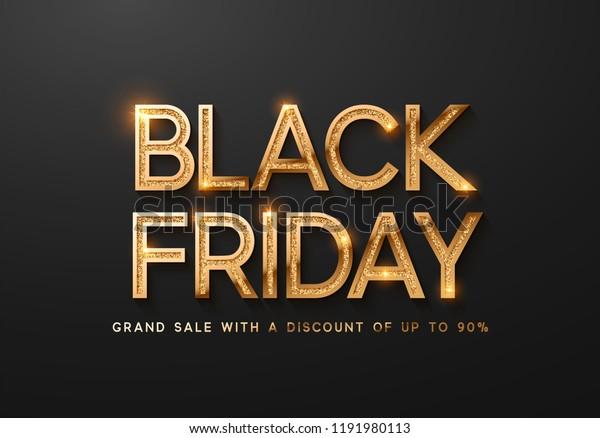 Black Friday Sale Banner Poster Logo Stock Vector Royalty Free 1191980113