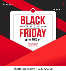 Black Friday Sale Banner Template vector illustration. Great for Poster and Flyer promotion