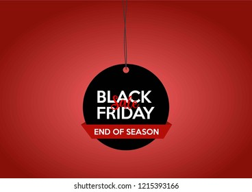 Black Friday Sale banner template. Vector EPS 10.