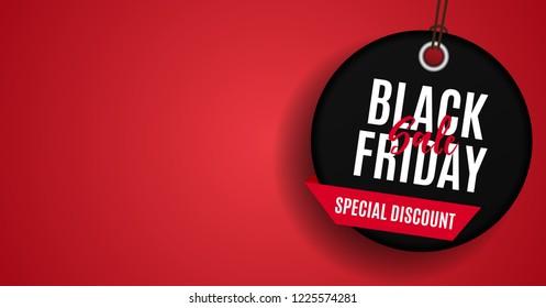 Black Friday Sale Banner Template. Vector Illustration EPS1