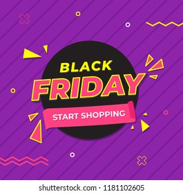 Black Friday Sale banner vector illustration