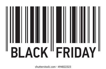 Black Friday Sale, barcode vector design