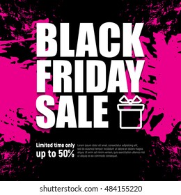 Black friday sale. Big sale and discount, business banner, vector illustration