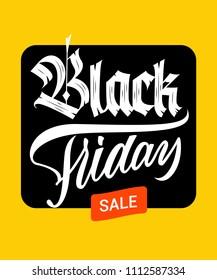 Black Friday sale blackletter lettering sign