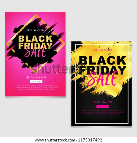 black friday sale brochure flyer abstract stock vector royalty free