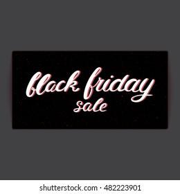 Black friday sale card, banner. Vector Illustration