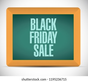 Black Friday sale chalkboard message concept illustration isolated over a white background