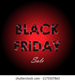 Black friday sale concept vector design illustration