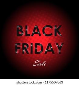 Black friday sale concept vector design illustration