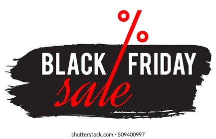 black friday sale concept vector, grunge frame with text  black friday and percentage sign, isolated illustration