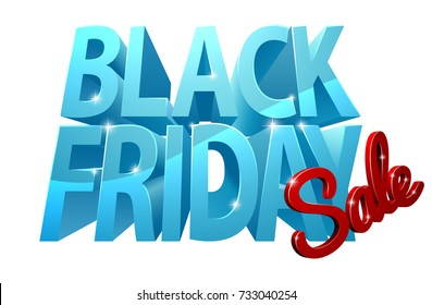 A Black Friday Sale design with 3d letters.