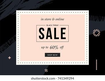 Black Friday Sale design for advertising, banners, leaflets and emails. Vector illustration.