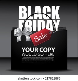 Black Friday sale design Eps10 vector