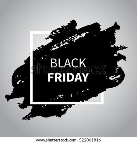 black friday sale design template black stock vector royalty free