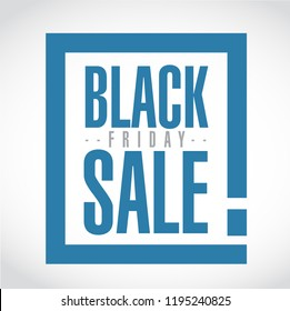 Black Friday sale exclamation box message isolated over a white background