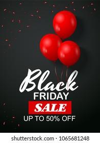 black friday sale flyer template dark のベクター画像素材