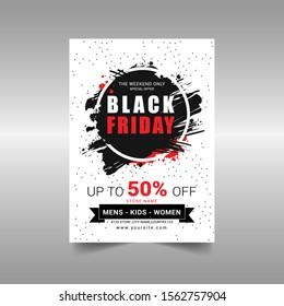 Black Friday sale Flyer Vector illustration