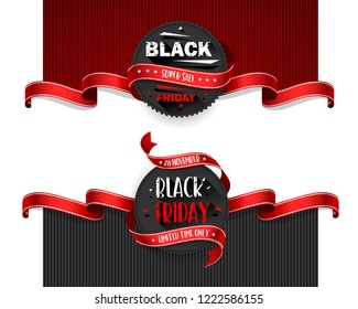 Black Friday Sale Flyers set For Business, Commerce, Promotion and Advertising. Vector illustration
