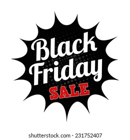 Black friday sale grunge rubber stamp on white, vector illustration
