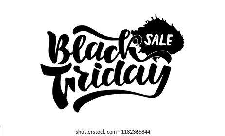 Black friday sale hand drowing lettering for salers, shops, blogs, postcards, labeles, posters , prints. Vector images