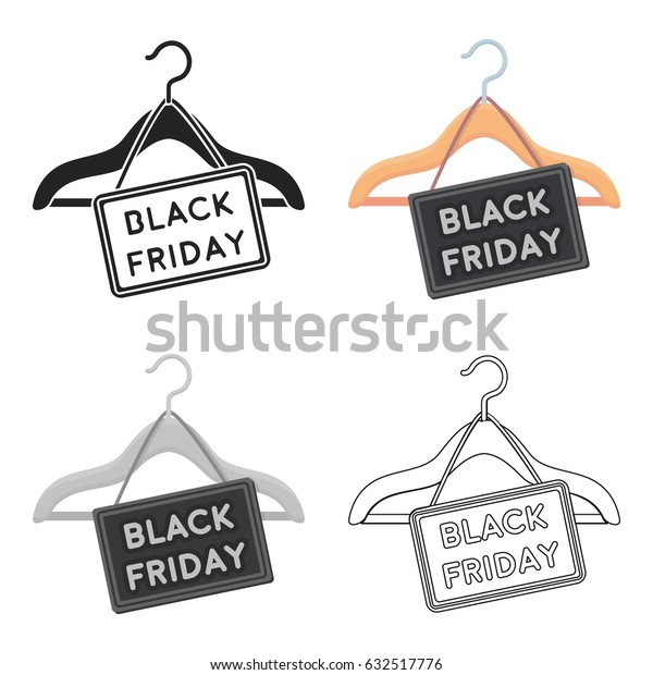 Black friday sale icon in cartoon style isolated on white background. E-commerce symbol stock vector illustration.