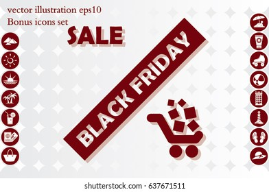 Black friday and sale icon. Vector illustration eps10.