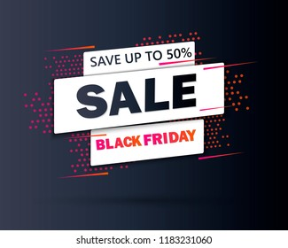 Black Friday sale inscription design template. Black Friday banner. Special offer. Vector illustration EPS10