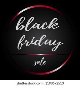 Black Friday sale inscription design template. Vector illustration.EPS10. Black Friday banner