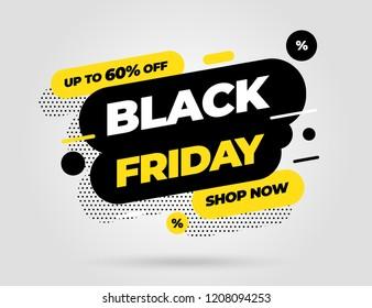 Black Friday sale inscription design template. Black Friday banner. Vector illustration eps 10.