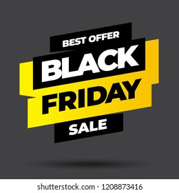 Black Friday sale inscription design template. Black Friday banner. Vector illustration eps 10.