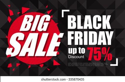 Black Friday sale inscription design template. banner. Vector illustration